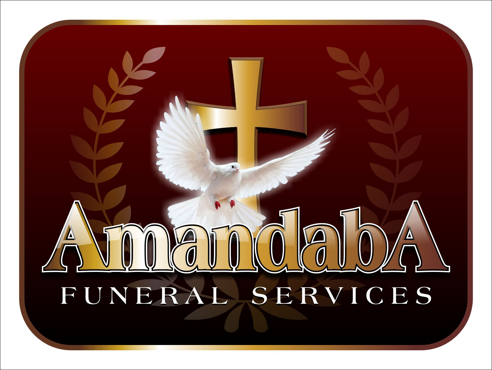 amandaba, logos, designs, religious, religion, christian, funerals, services, christianity, doves, crosses, birds, wreaths,