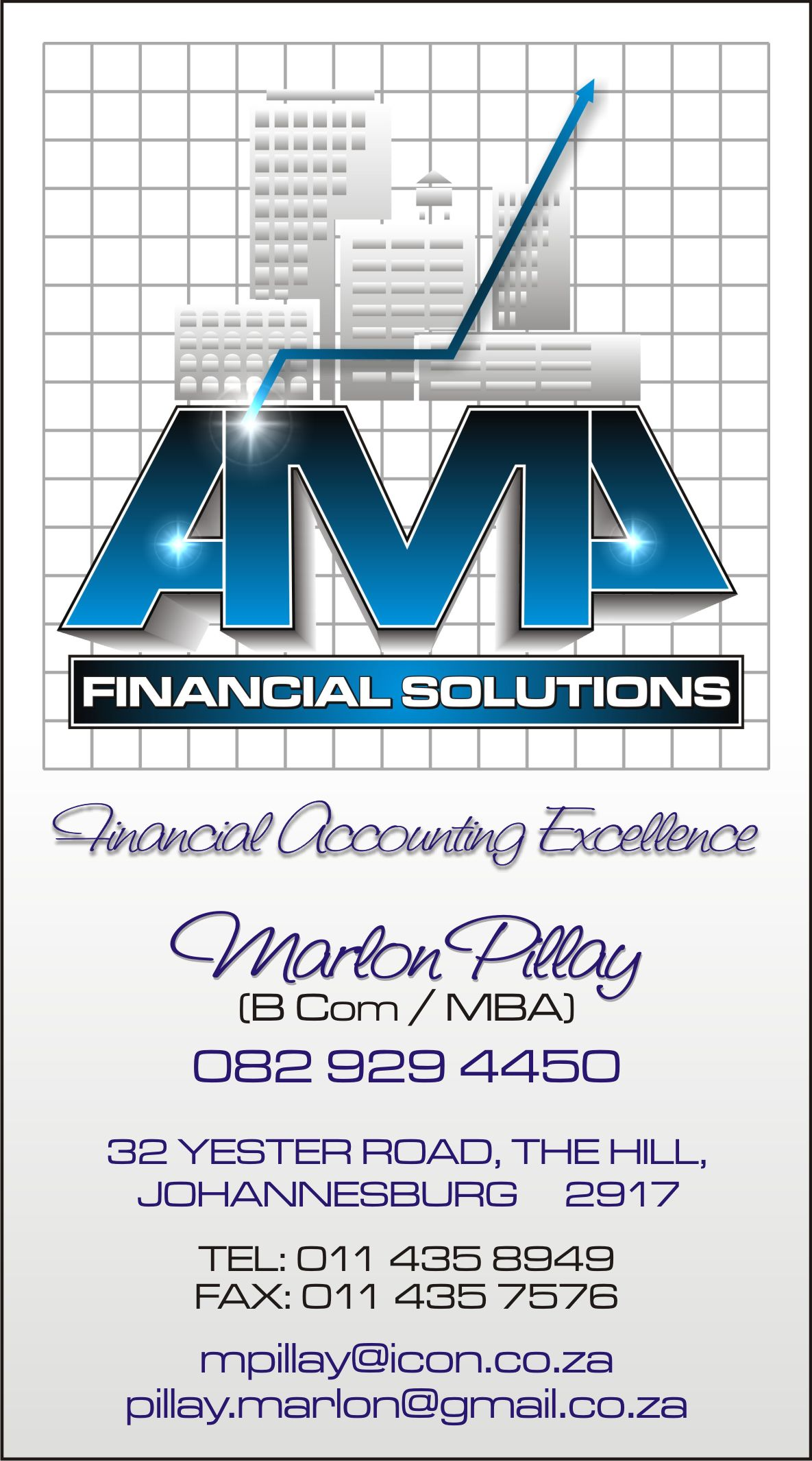 amp, business, cards, financial, solutions, blue, vertical, portrait, accounting, accountants