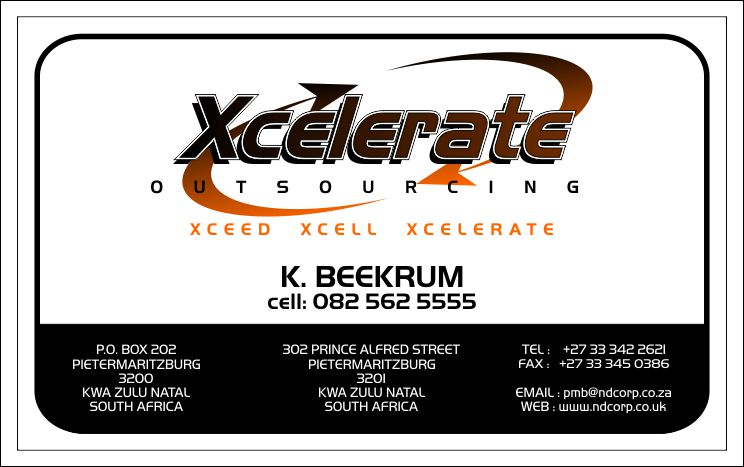 businesses, cards, graphics, designs, accelerate, xcelerate, outsourcing, outsource, xceed, xcell, orange, black, white
