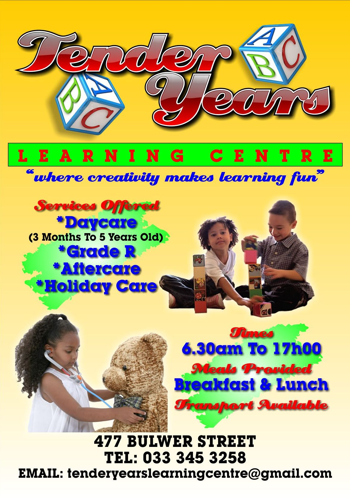 tender, years, pamphlets, flyers, graphics, designs, learning, centres, kids, children