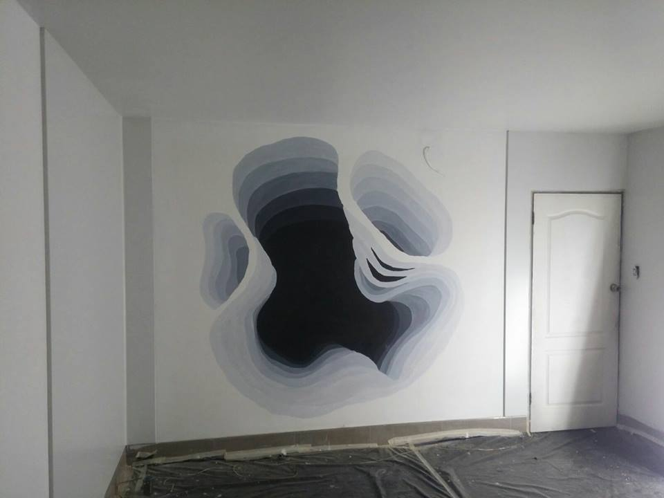 walls, murals, paintings, 3d, dimensional, holes, walls,