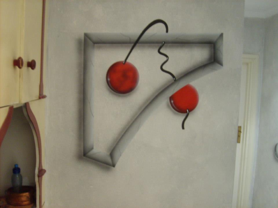 patter, cherry, cherries, red, circles, frames, walls, murals, paintings, designs, patterns, shapes