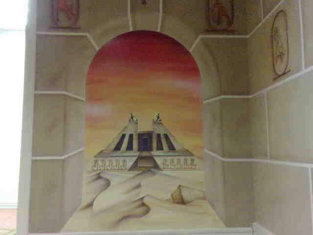 3d, dimensional, walls, murals, art, paintings, deserts, egyptian