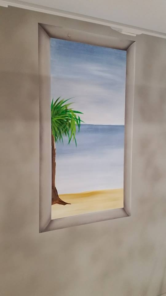 Window to Ocean Wall Mural